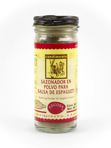 Sazonador en Polvo para Salsa de Espagueti
